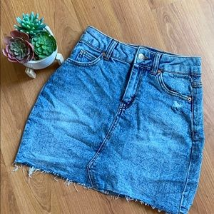 Denim Mini Skirt (acid wash)